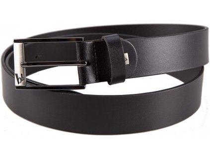 pánský černý kožený pásek 30008, BRUNO BANANI