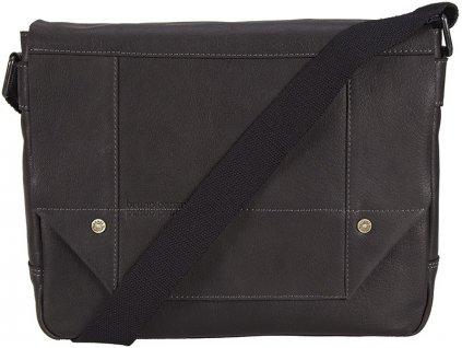 BRUNO BANANI černá kožená taška 320/2009, BRUNO BANANI