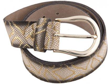 béžovozlatý kožený pásek 402518, BERND GÖTZ