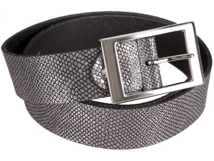 černostříbrný kožený pásek 351362, BERND GÖTZ