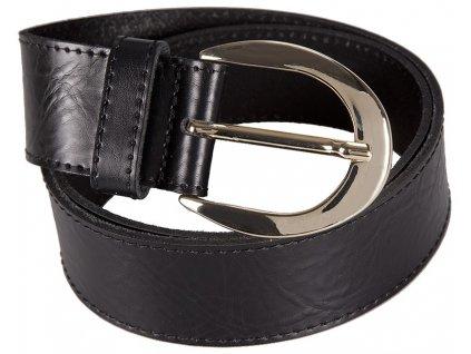 černý kožený pásek 402559, BERND GÖTZ