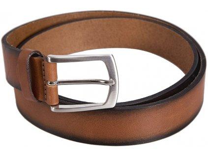 hnědý-koňak kožený pásek 351241, BERND GÖTZ