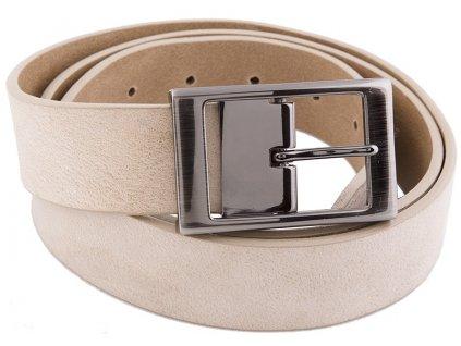 béžový kožený pásek 351400, BERND GÖTZ