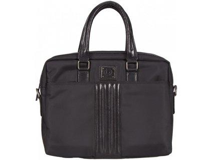 "černá taška na 15"" notebook nylon+kůže OGGI 401, BUGATTI"