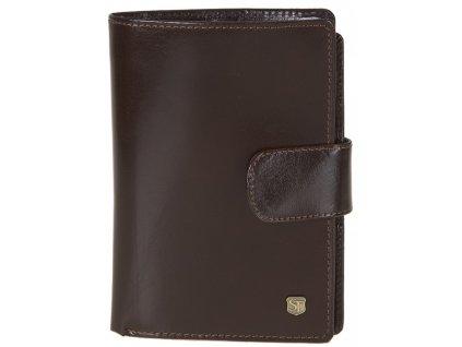 pánská hnědá kožená peněženka 241, STEFANIA