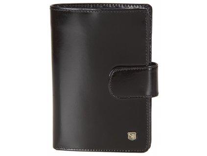 pánská černá kožená peněženka 241, STEFANIA