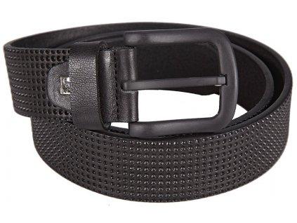 pánský černý kožený pásek 202, LINDENMANN