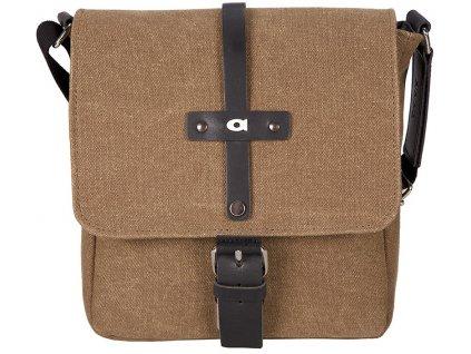 Elegantní rezavě hnědá taška z canvasu CLOU3, DAAG