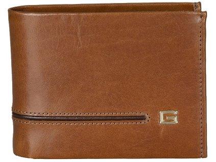 pánská hnědá kožená peněženka 6993, GIUDI