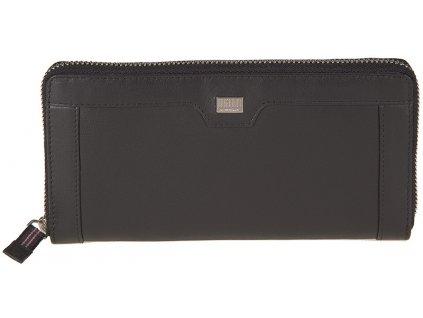 MANO velká dámská černá kožená peněženka - penál MANO M20102