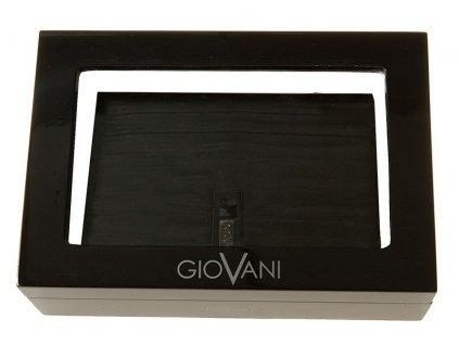 Luxusní pánská kožená peněženka STEFANIA Jantar - černá