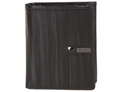 Stefania pánská černá kožená peněženka AW 100, GIOVANI