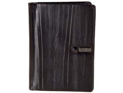 pánská černá kožená peněženka AW 102, GIOVANI