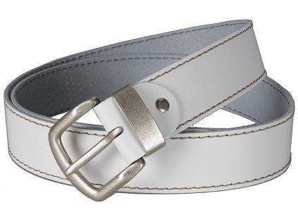 Bílý kožený pásek Bernd Götz