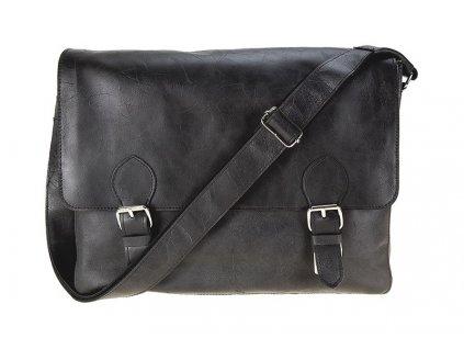 černá kožená taška na notebook FUNKY 14, DAAG