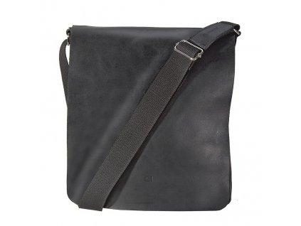 černá kožená taška přes rameno,  JAZZY SMASH 71, DAAG