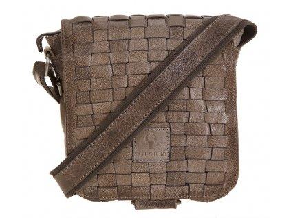 šedá kožená taška 31-0264, Bull & Hunt
