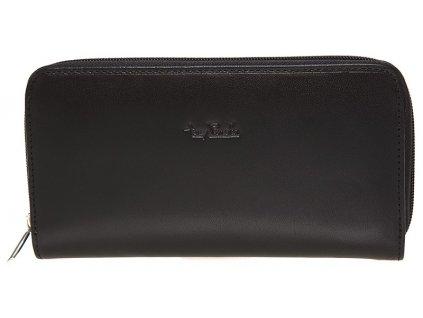 Tony Perotti velká dámská černá kožená peněženka - penál TG/DP/2250-19, Tony Perotti