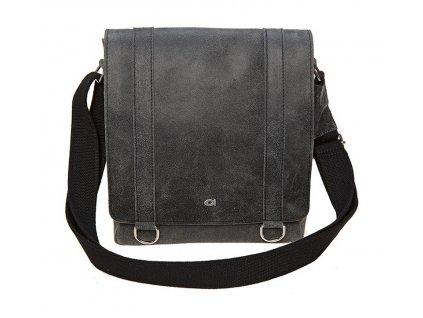 černá - antracit kožená taška JAZZY Risk 27, DAAG