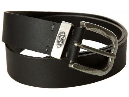 Pánský černý kožený pásek 1085, LLOYD