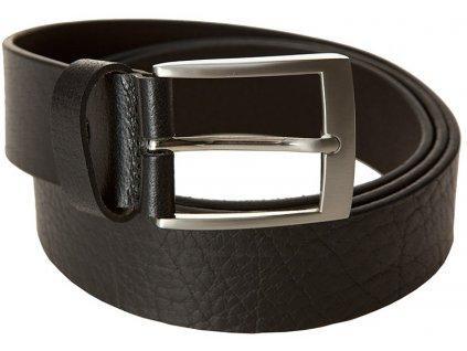 LINDENMANN pánský černý kožený pásek 745, LINDENMANN