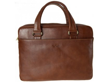 "hnědá kožená taška na 14"" notebook 9637-38, Tony Perotti"