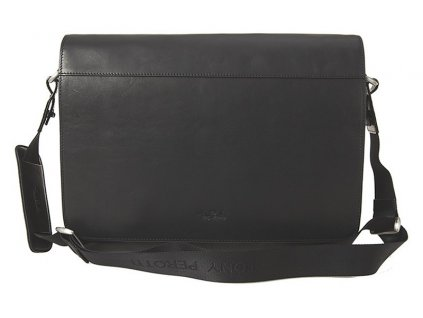 """TONY PEROTTI černá kožená taška na 13"""" notebook 9027-38, Tony Perotti"""