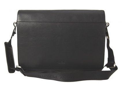 """Tony Perotti luxusní pánská černá kožená taška i na notebook velikosti 13"""" 9027-38"""