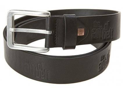 pánský černý kožený pásek 90075, LINDENMANN