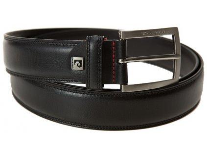 pánský černý kožený pásek 70004 PIERRE CARDIN