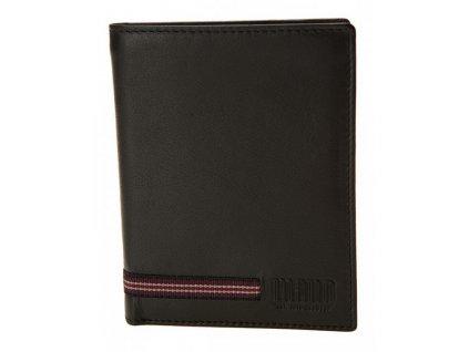 Luxusní pánská černá kožená peněženka německé značky MANO