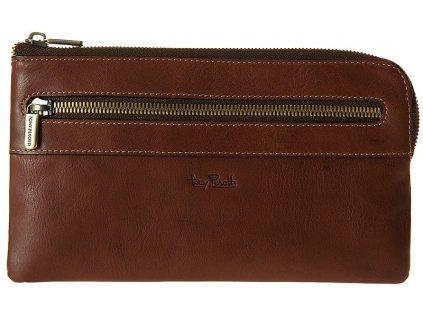 velká hnědá kožená peněženka - dokladovka 2607, Tony Perotti