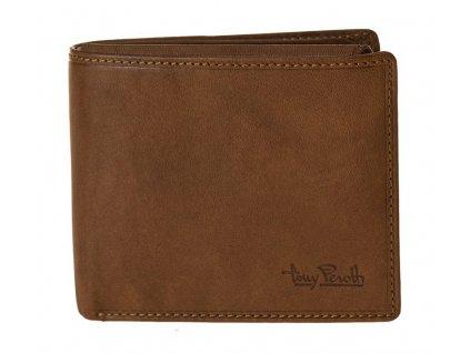 pánská světle hnědá kožená peněženka 2958/CG, Tony Perotti