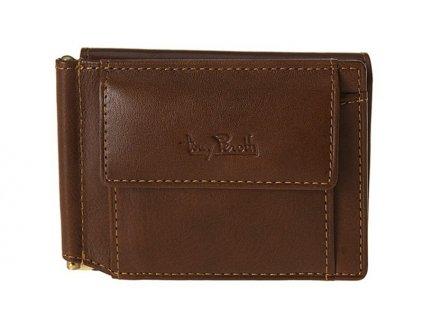 Pánská hnědá kožená peněženka-dolarka 2076, tony perotti