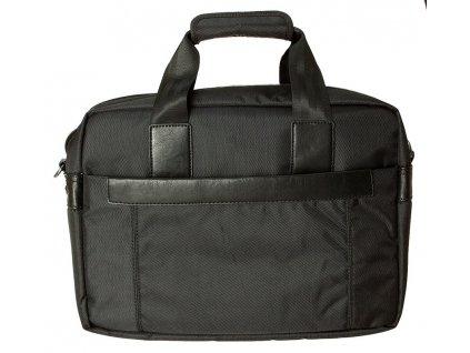 """Černá taška na 17"""" notebook , 568001, d&n lederwaren"""