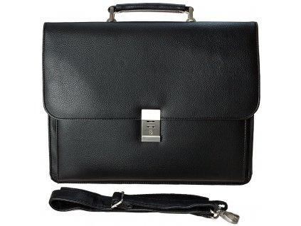 d & n lederwaren černá aktovka na notebook z umělé kůže 537301, d&n lederwaren