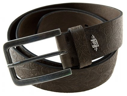 Pánský hnědý kožený pásek 0798, LLOYD