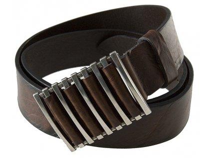 tmavě hnědý kožený pásek 402184, BERND GÖTZ