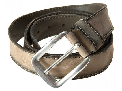 Luxusní pánský kožený pásek značky BERND GÖTZ světlé šedohnědé barvy