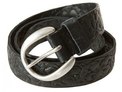 černý kožený pásek 402185, BERND GÖTZ