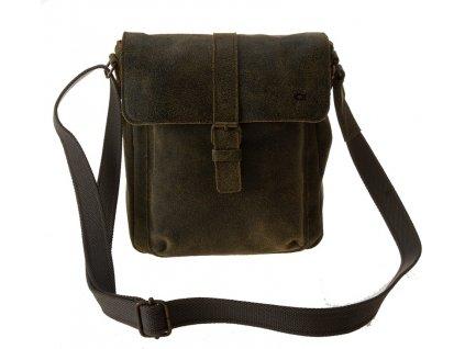 Hnědá kožená taška JAZZY Risk 37, DAAG