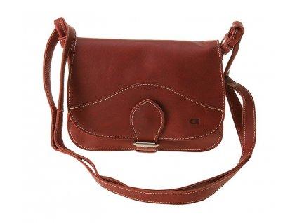 daag červená kožená kabelka FUNKY 7, Daag