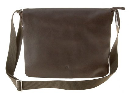 """tmavě hnědá kožená taška na 15"""" notebook , JAZZY SMASH 74, DAAG"""