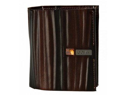 Stefania menší pánská hnědá kožená peněženka AW 101, GIOVANI