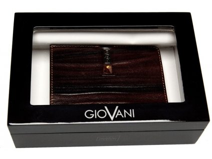 Luxusní pánská hnědá kožená peněženka JANTAR AW 100, GIOVANI