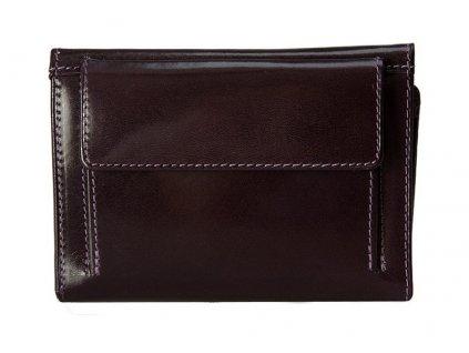 Luxusní fialová dámská kožená peněženka Stefania