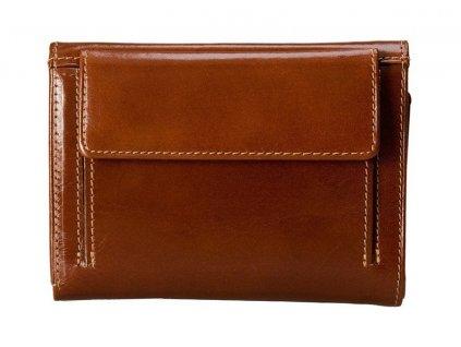 dámská hnědá kožená peněženka 225 D, Stefania