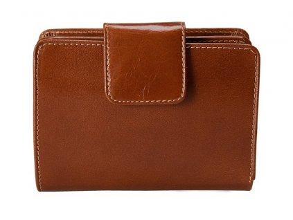 Dámská kožená peněženka STEFANIA Piper - hnědá