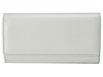 STEFANIA velká dámská bílá kožená peněženka - dokladovka 141 D, Stefania
