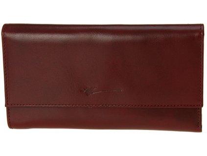 velká dámská tmavě červená kožená peněženka D-654, Dragon